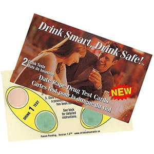 Date Rape Test Pack (10 cards/20 tests).