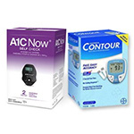 A1CNow+ Self Check & Bayer Contour Glucose Monitor